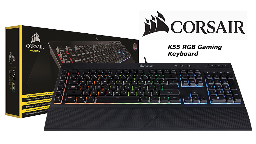 Corsair K55 RGB Gaming Keyboard Review | The Official Blog of Patcoola